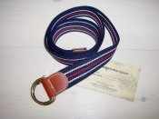 Knowledge Cotton Apparel - Canvas Belt Marinblå0