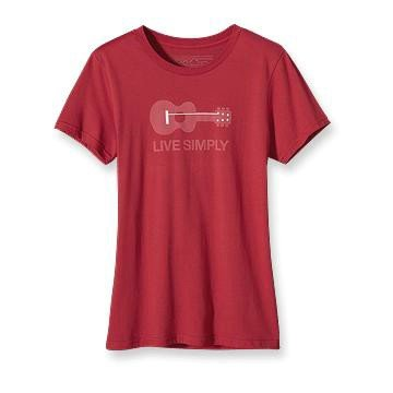 Patagonia - Live Simply Guitar T-shirt Poppy Fields0