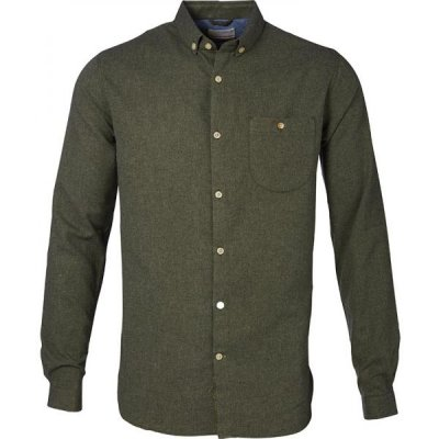 knowledge cotton apparel flanel shirt