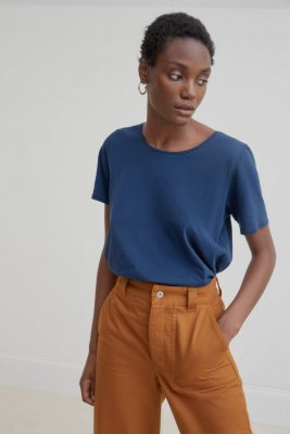 Kowtow - Building Block Round Neck Tee Navy W